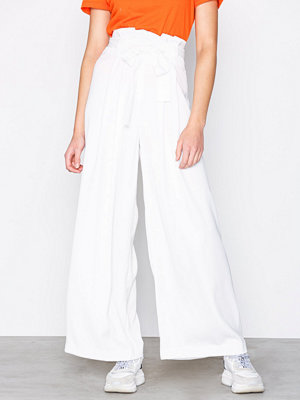 River Island vita byxor Wide Leg Trousers White