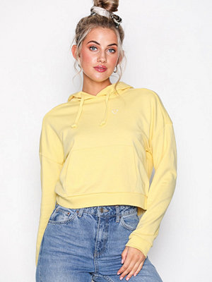 Topshop Heart Outline Hoodie Yellow