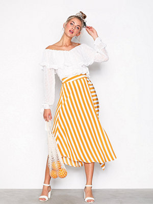 Topshop Humbug Button Hanky Hem Skirt Mustard