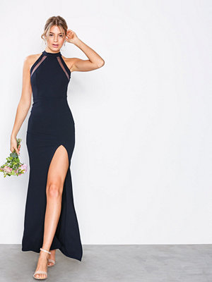 Ax Paris Halter Neck Maxi Dress Navy