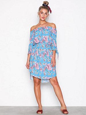 Jacqueline de Yong Jdyvictory 3/4 Off Shoulder Dress W Blå