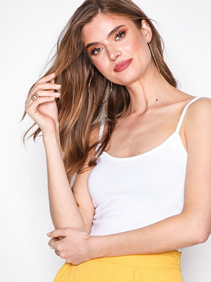 Missguided Strappy Cami Vest Top White