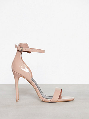 Topshop Patent Skinny Sandals Beige