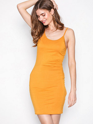 NLY One Low Back Mini Dress Mustard