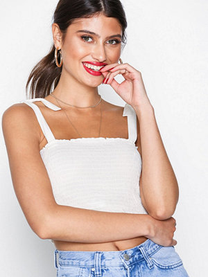 NLY Trend Smock Bandeau Top Marshmallow