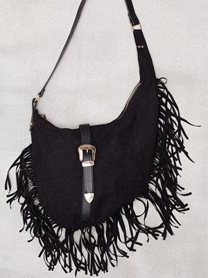 Missguided Western Buckle Shoulder Bag Black