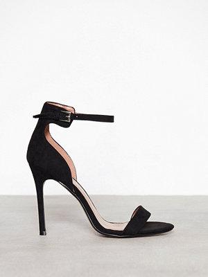 Topshop Two Part Sandals Black