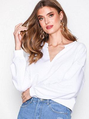 Missguided Oversized V Front Sweatshirt White