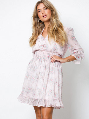 NLY Trend Button Smock Dress Ljus Rosa