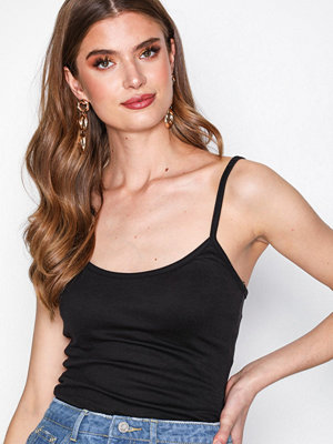 Missguided Strappy Cami Vest Top Black