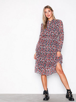 Pieces Pcamper Ls Midi Dress Ff Svart