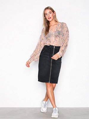 Pieces Pcgiggi Hw Pencil Dnm Skirt BL601-B