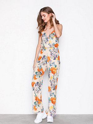 NLY Trend Strappy Print Jumpsuit Blommig