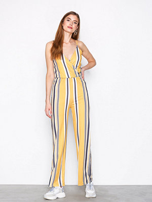 NLY Trend Strappy Print Jumpsuit Randig