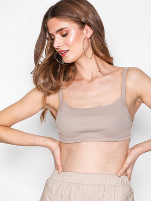 Missguided Strappy Back Bralet Beige