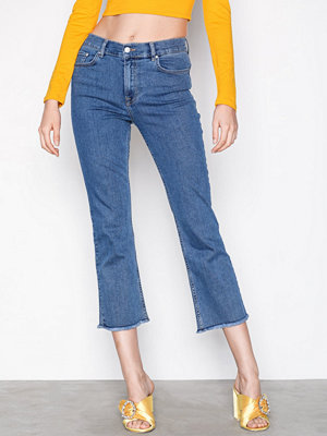NLY Trend Superstretch Cropped Flare Blå