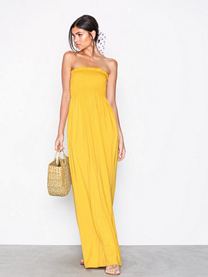 NLY Trend Shirring Tube Maxi Dress Gul