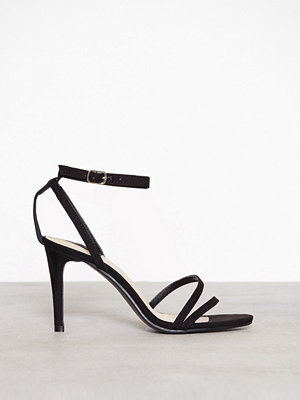 NLY Shoes Double Strap Heel Sandal Svart