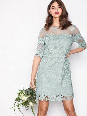 Festklänningar - NLY Trend Crochet Loose Dress Mint Grön