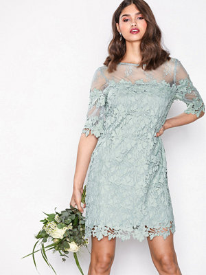 NLY Trend Crochet Loose Dress Mint Grön