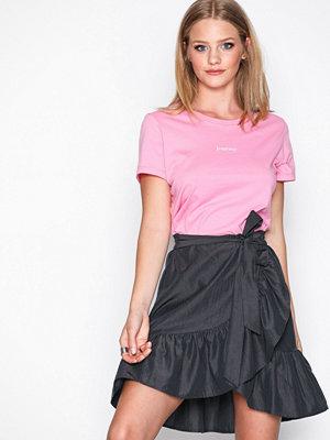 Vero Moda Vmdesire Knee Skirt Ga Svart