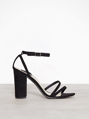 NLY Shoes Double Strap Block Sandal Svart
