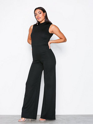 NLY One Exposed Back Jumpsuit Svart