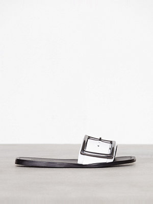 Topshop Fox Flat Sliders White