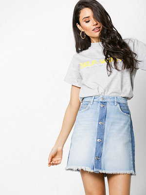 NORR Janni denim skirt Light Blue