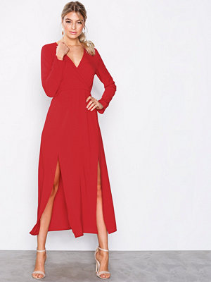 Ax Paris Long Sleeve Dress Red