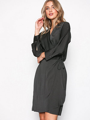 Filippa K Slinky Wrap Dress Stone