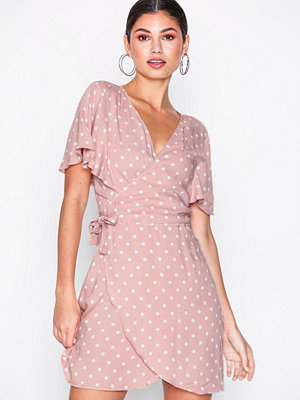 Motel Rawa Polka Dress Pink