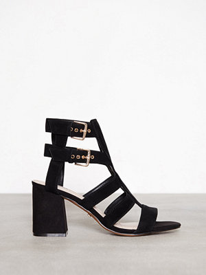 Topshop Nia Buckle Mid Sandals Black