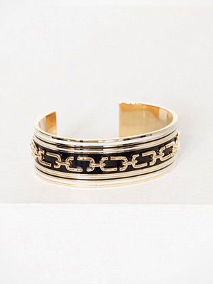 Marc Jacobs armband Wide Raised Chain Cuff Svart