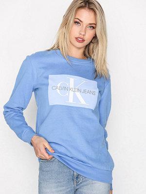 Calvin Klein Jeans Monogram Logo Sweatshirt Blå