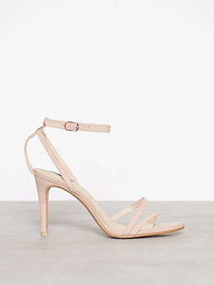 NLY Shoes Double Strap Heel Sandal Dusty Pink