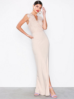 Ax Paris Eyelash Lace Maxi Dress Blush