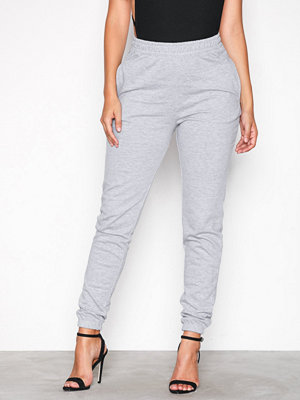 Missguided ljusgrå byxor Super Slim Clean Jogger Grey