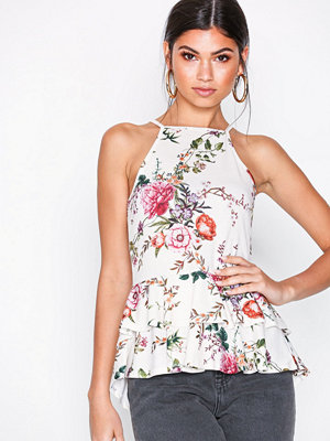 NLY Trend Strappy Frill Top Blommig