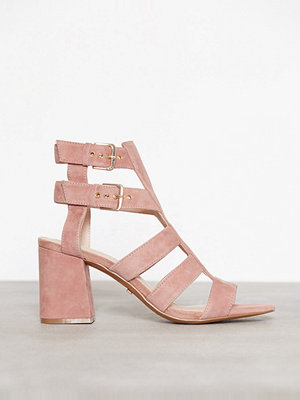Topshop Leather Buckle Sandal Beige