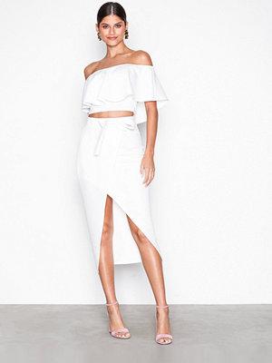 Kjolar - NLY One Wrap Over Skirt Vit
