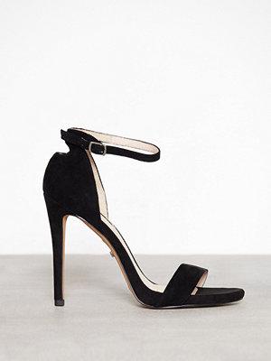 Topshop Slim Plat Sandals Black