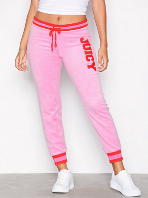 Juicy Couture omönstrade byxor Juicy Boucle Microterry Zuma Pant Bright Pink