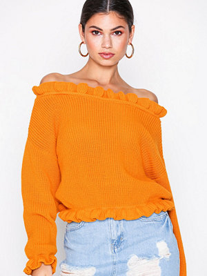 Glamorous Long Sleeve Knitted Top Golden Yellow