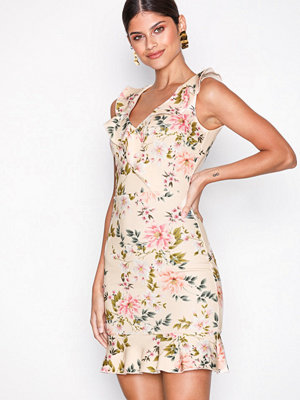 NLY One Floral Frill Dress Mönstrad