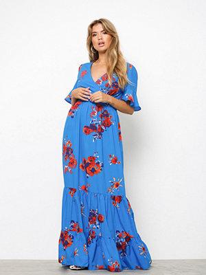 NLY Trend Exotic Long Dress Blå/Mönstrad
