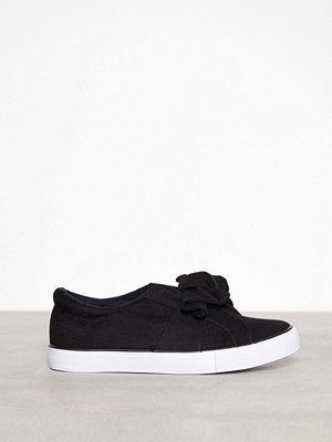 New Look Bow Slip On Flat Black