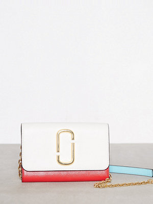 Marc Jacobs omönstrad axelväska Wallet On Chain Porcelain