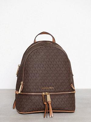 MICHAEL Michael Kors mörkgrå mönstrad ryggsäck Rhea Zip Backpack