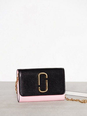 Marc Jacobs Wallet On Chain Svart/Rosa axelväska
